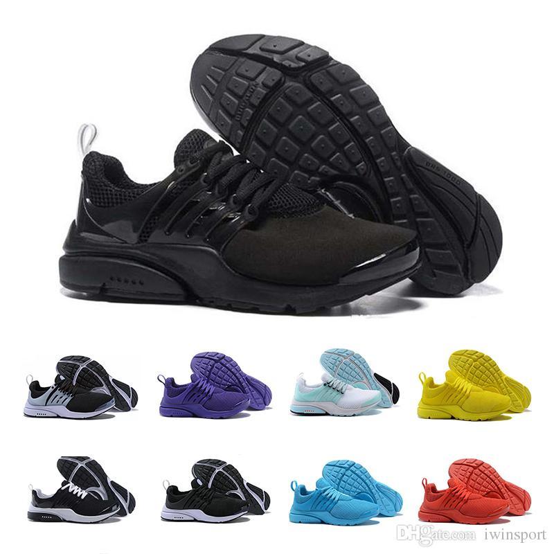 detailed look d37d8 0402a Acheter Nike Air 2019 Nouveau Presto 5 BR QS Hommes Femmes Sneaker Tripel Noir  Blanc Rouge Chaussures De Course Hommes Formateur Sportif Chaussure De  Sport ...