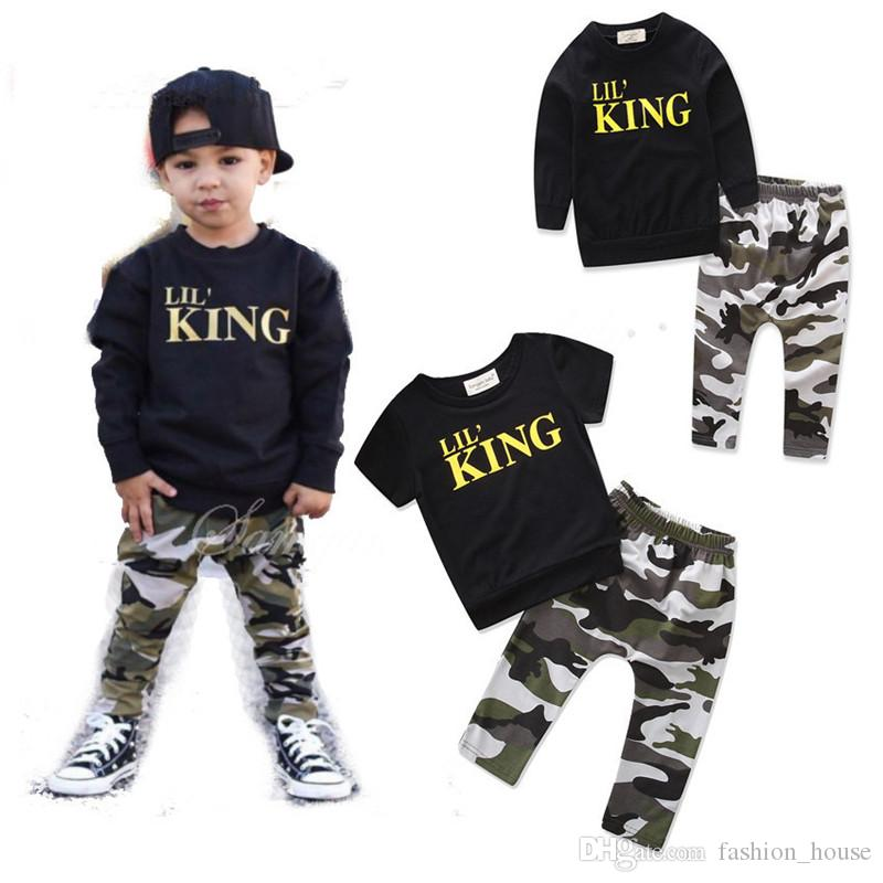 557a3f4e2 2019 Baby Camouflage Outfits Boys Letter Top+Camouflage Pants Cotton Kids  Clothing Sets B11 From Fashion_house, $7.31 | DHgate.Com