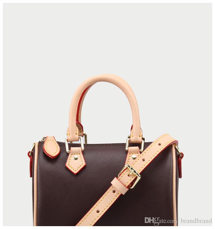 9dc448453dec Hot Nano Speedy Mini Shoulder Bag Lady Women Handbag Luxury Style Leather  Trims Canvas Bag Female Purse With Date Code 61252 Discount Designer  Handbags ...