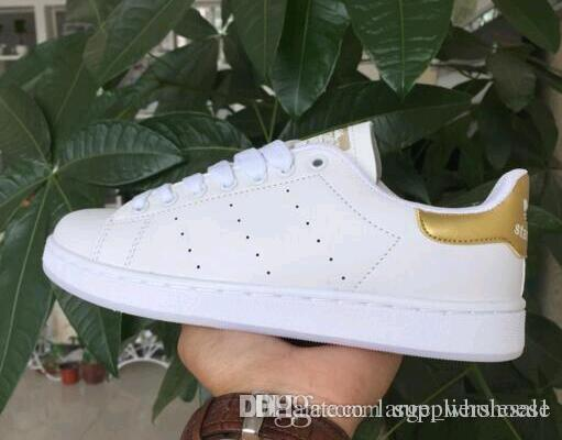 online store 7e267 fa53d Acquista Nuovi Arrivi Classic Stan Scarpe Uomo E Donna Fashion Sneakers  Casual Sport Leather Lovers Smith Scarpe Zapatos Mujer Grandi Dimensioni 36  44 ...