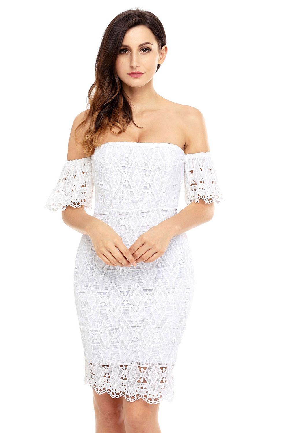 Robe de cocktail diamant blanc
