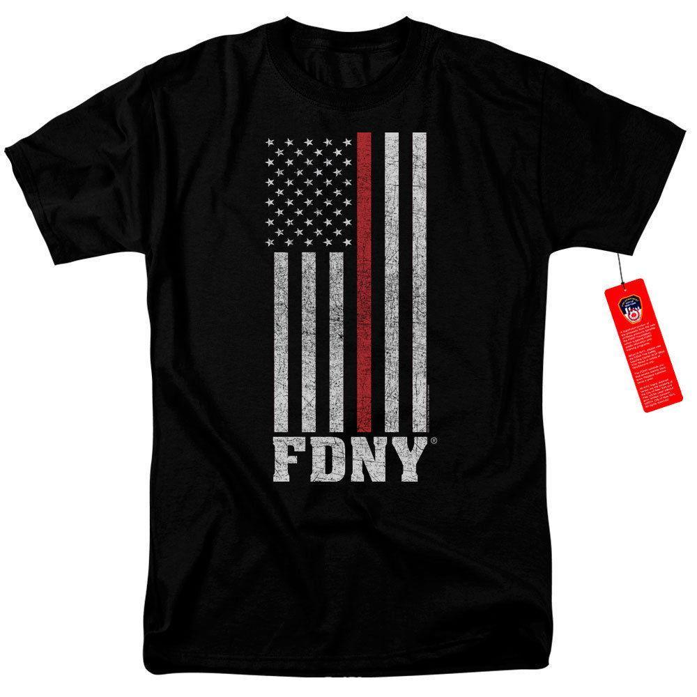 6a2f4f9a FDNY Thin Red Line Officially Licensed NYC Fire Department T Shirt Adult SM  3XL Print T Shirt Mens Short Sleeve Hot Online Funky T Shirts Buy T Shirt  Design ...