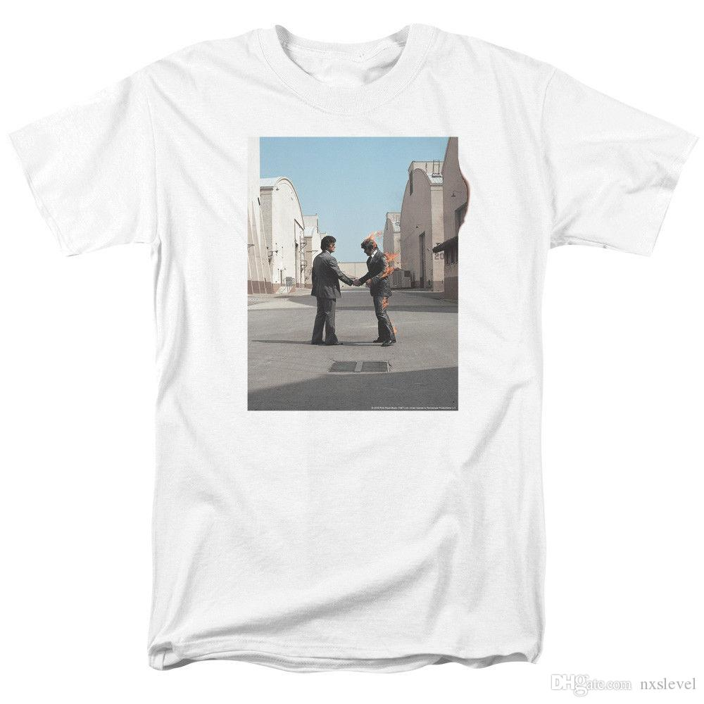 Pink Floyd Wish You Were Here Mens Adult T Shirt White T Shirt