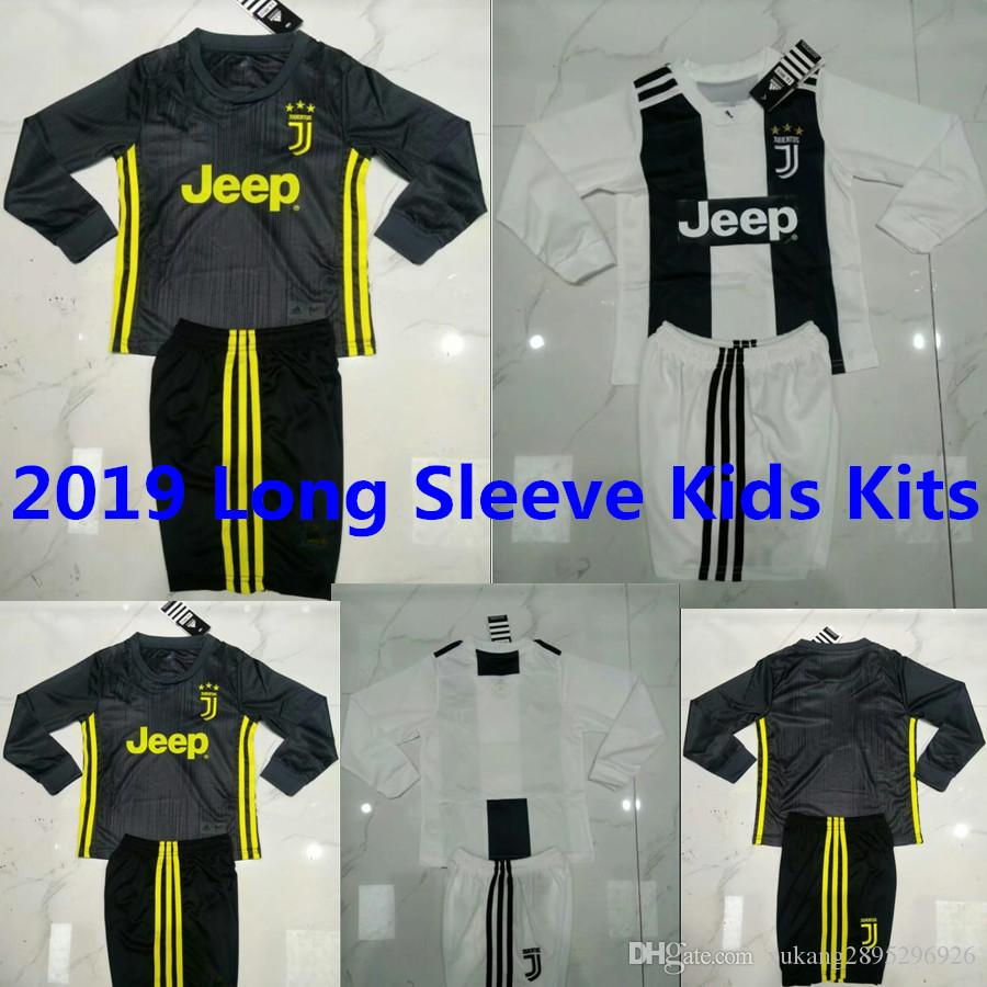 quality design 1f363 d0595 18/19 Juventus RONALDO Long Sleeve soccer jersey Kids Kits D.Costa DYBALA  HIGUAIN MARCHISIO MANDZUKIC CHIELLINI BUFFON Maillots de football