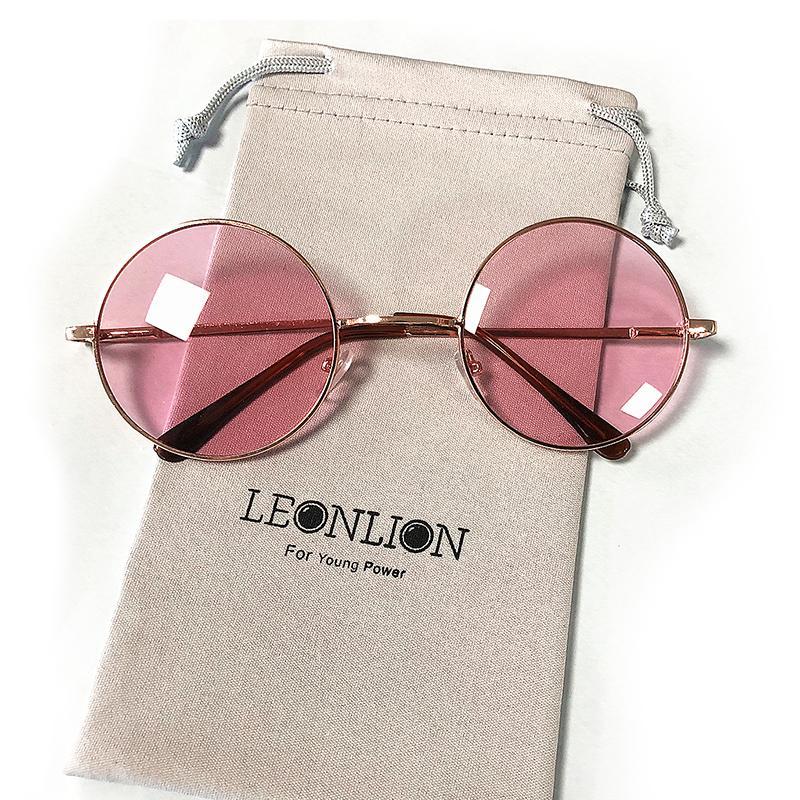 Redondo Clásico Moda Color De Mujeres Vintage Mujer Espejo Gafas Sol Uv400 Caramelo YE2eDH9WIb