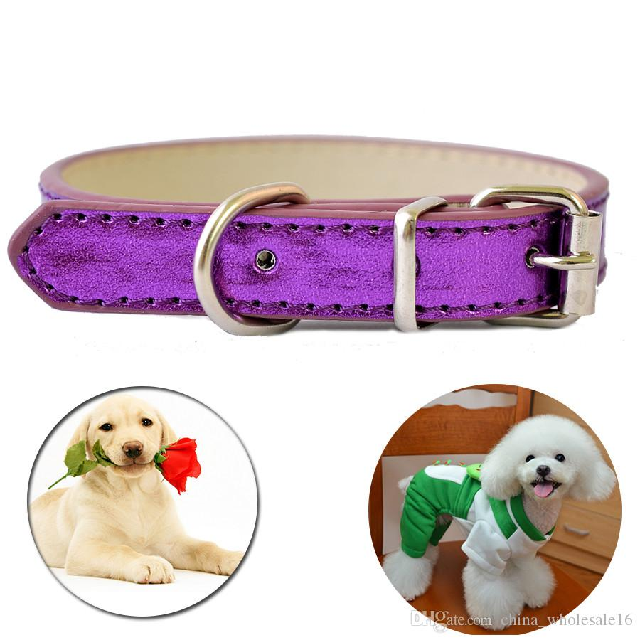Big Sale Pu Leather Dog Collars For Small Dogs Adjustable Buckle Pet Puppy Dog Cat Collar PET DOG NECKLACE