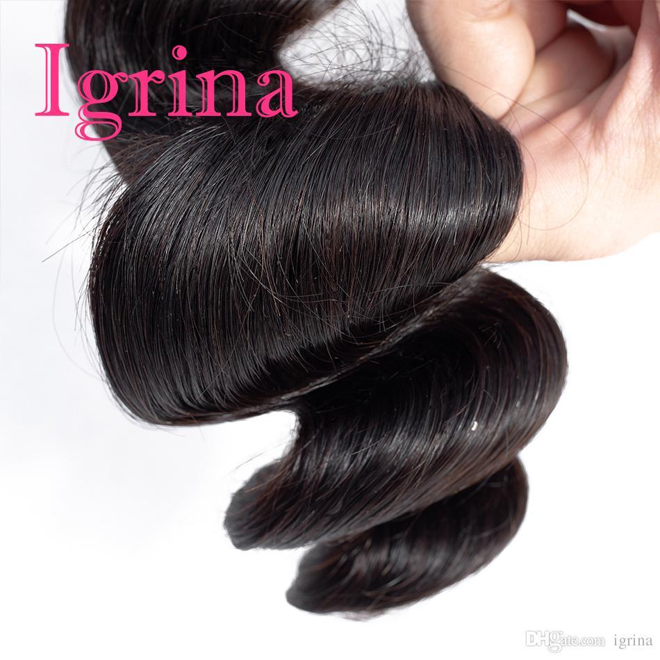 Igrina Malaysisches Reines Haar Lose Welle 3 Bundles Angebote Lose Locken Unverarbeitete Menschliche Haarwebart Bundles Malaysische Lose Welle Haarverlängerungen