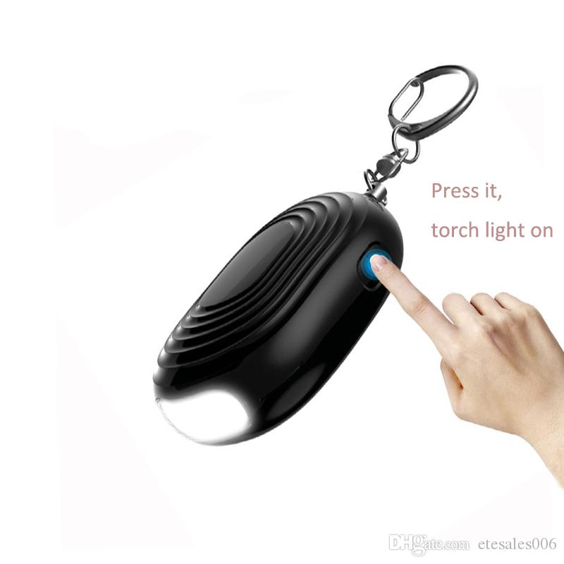 2018 New coming LED torch light personal attack alarm Body guard alarm for women and kids protection security device self defense