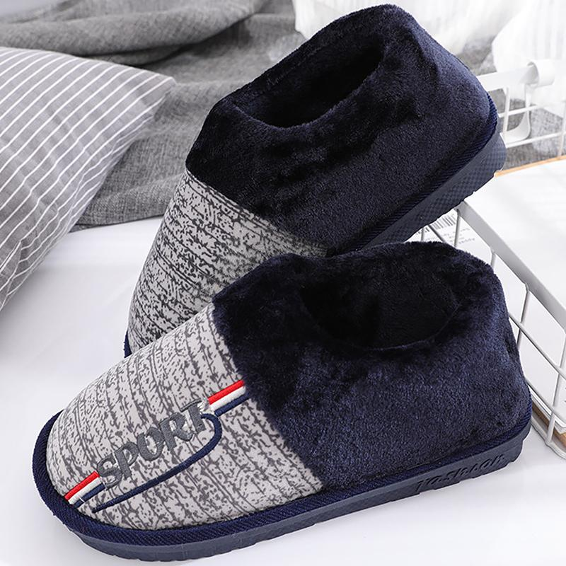 a374c0b50 Big Size 5.5 14 Short Plush Winter Slippers Men Hard Wearing Non Slip Soft  Rubber Slippers Flock Warm Male Shoes Loafers For Women Clogs For Women  From ...