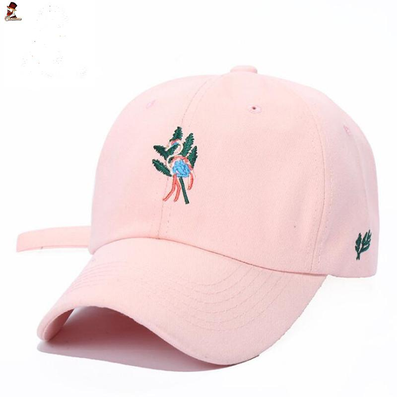 c884211bcd5 CHESSIECA 2018 Women Pink Embroidery Flamingo Baseball Caps Luxury Hip Hop  Adjustable Hat Men Baseball Cap Dad Hats Female Custom Fitted Hats Design  Your ...