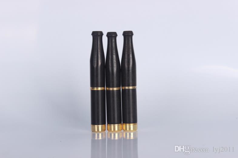 Ebony filter cigarette holder double filter core cigarette holder can clean tie rod copper head cigarette holder.