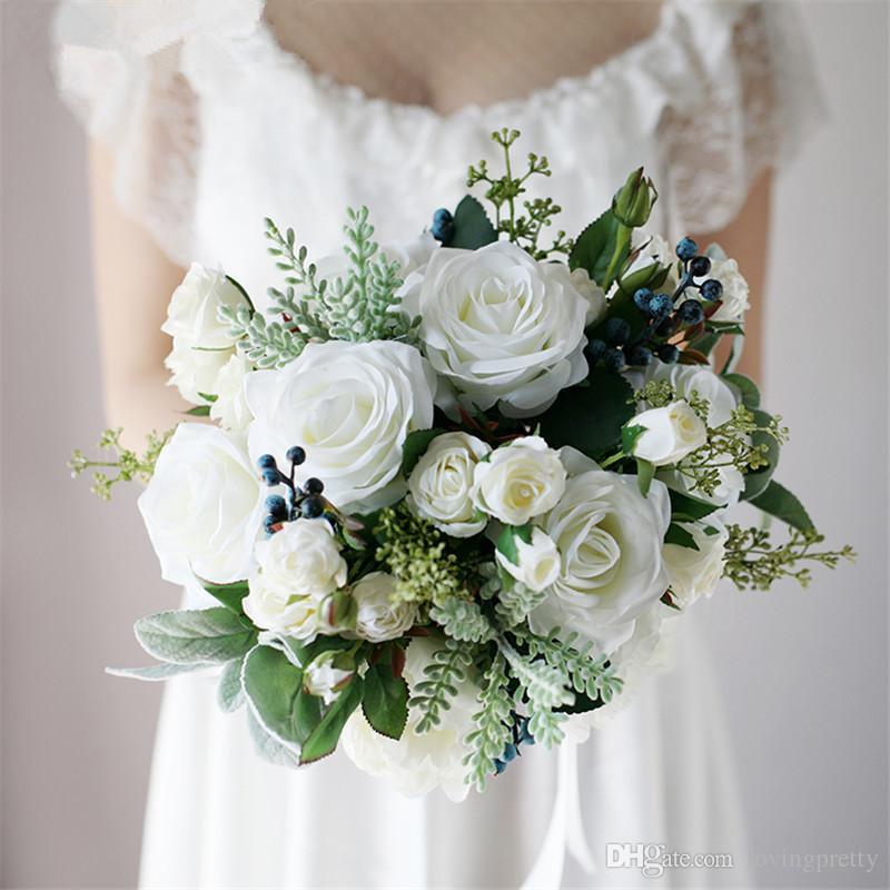 Grosshandel Janevini Western Style Romantische Braut Blumen Vintage