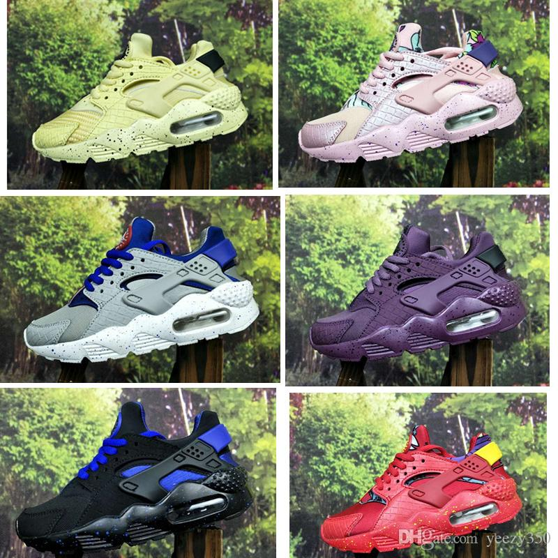 new concept 964b7 a4861 Flash Lighted Air Kids Huarache Running Shoes Premium SE QS Trainers Toddler  PS GS Sneakers TD Huaraches Ultra Run 1 Basketball Shoes Boys Tennis Shoes  On ...