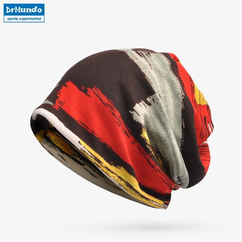 1eb44ee7407 Winter Sport Men Ski Face Mask Fleece Beanie Hats Warm Stripe Velvet ...