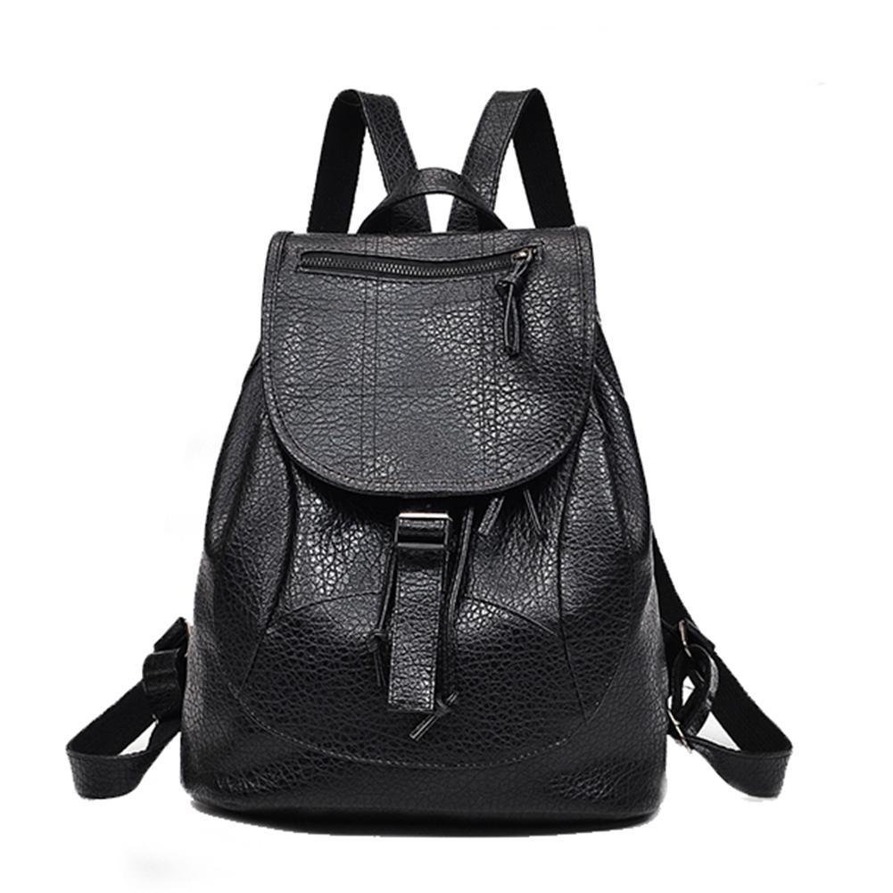 bcbf6a5a53ab Travel School Plain Faux Leather Backpack Fashion Women Shoulder Bag  Rucksack Laptop Backpacks Travel Backpacks From Amoybasketballshoes