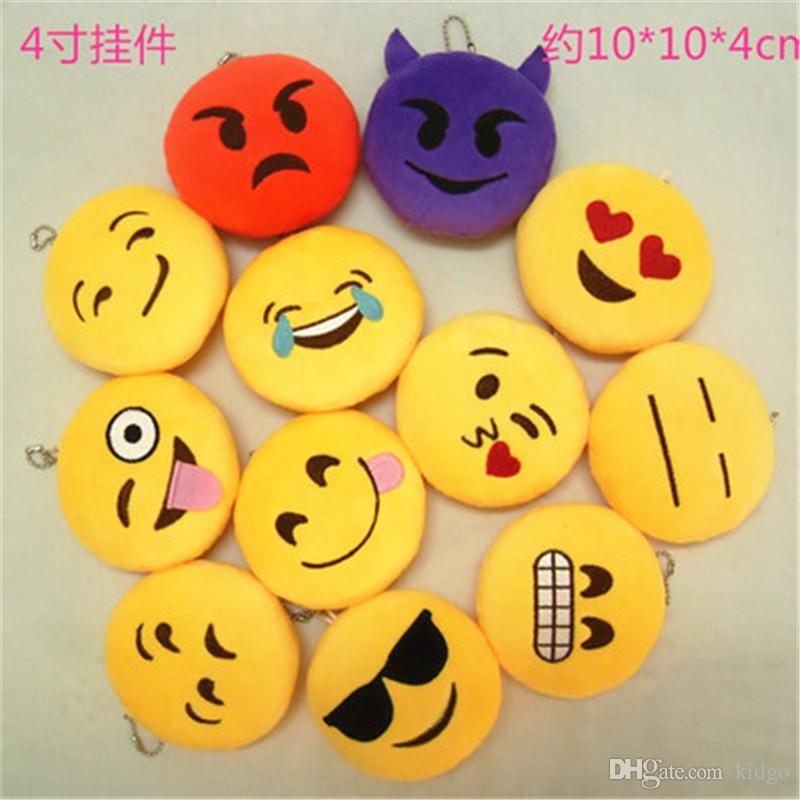 Mix Style Emoji Keychain Toys For Kids Round Straps Bag Emoji