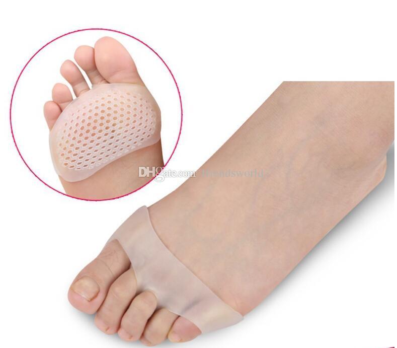 Hücresel Nefes Yumuşak Silikon Jel Ayak Pedleri Yüksek topuk şok Anti Kayma dayanıklı metatarsal ayak Pedi Ön Ayak Pedi Ücretsiz Kargo