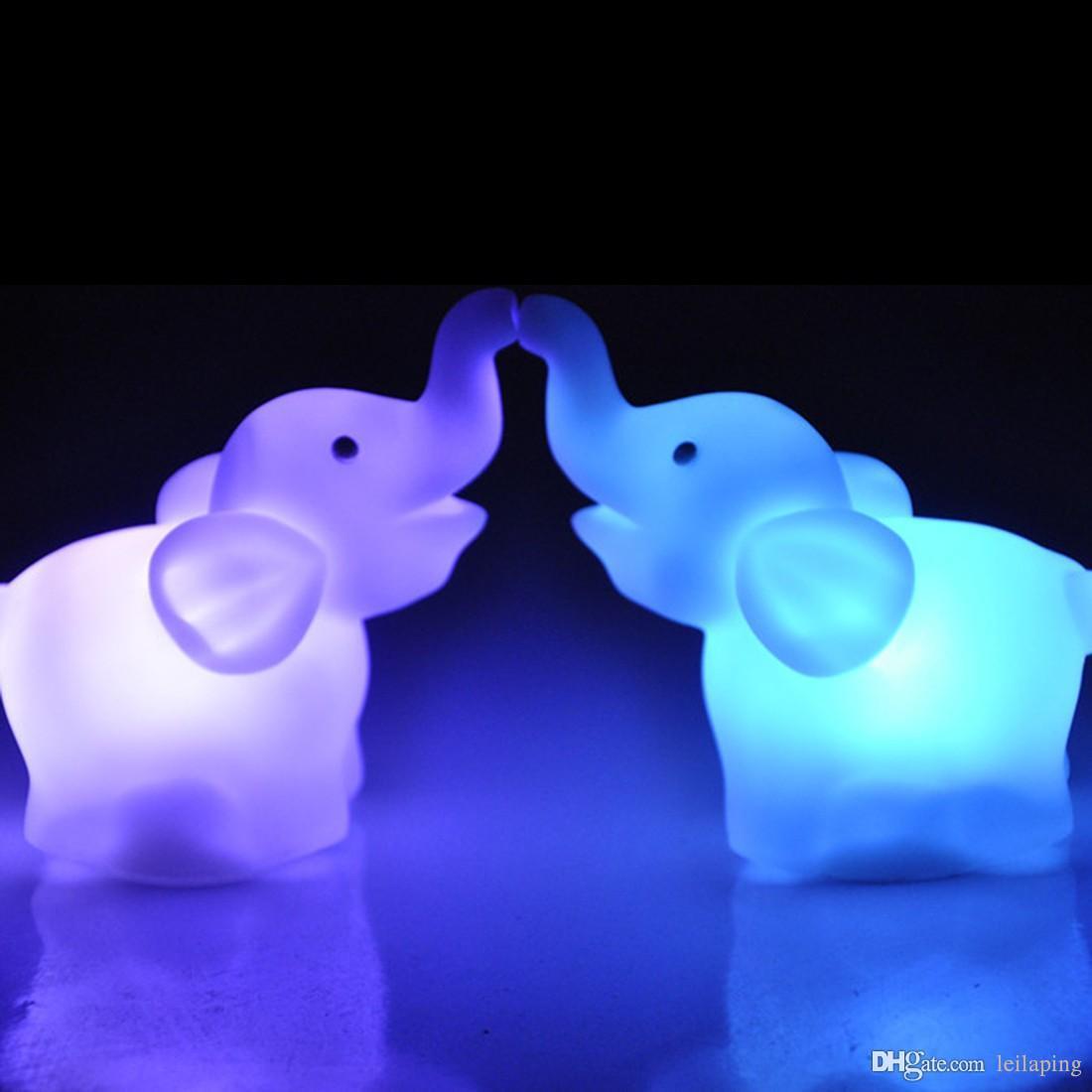 2019 Led Night Light Elephant Shape Color Changing Decoration Lamp