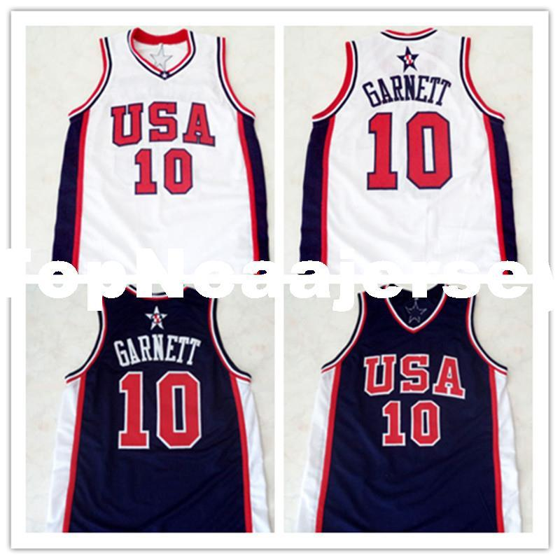 separation shoes 3cd52 bde28 Cheap Mens #10 KEVIN GARNETT TEAM USA JERSEY NEW WHITE XXS - 6XL Retro  Basketball Jerseys custom all name and numbers stitched on