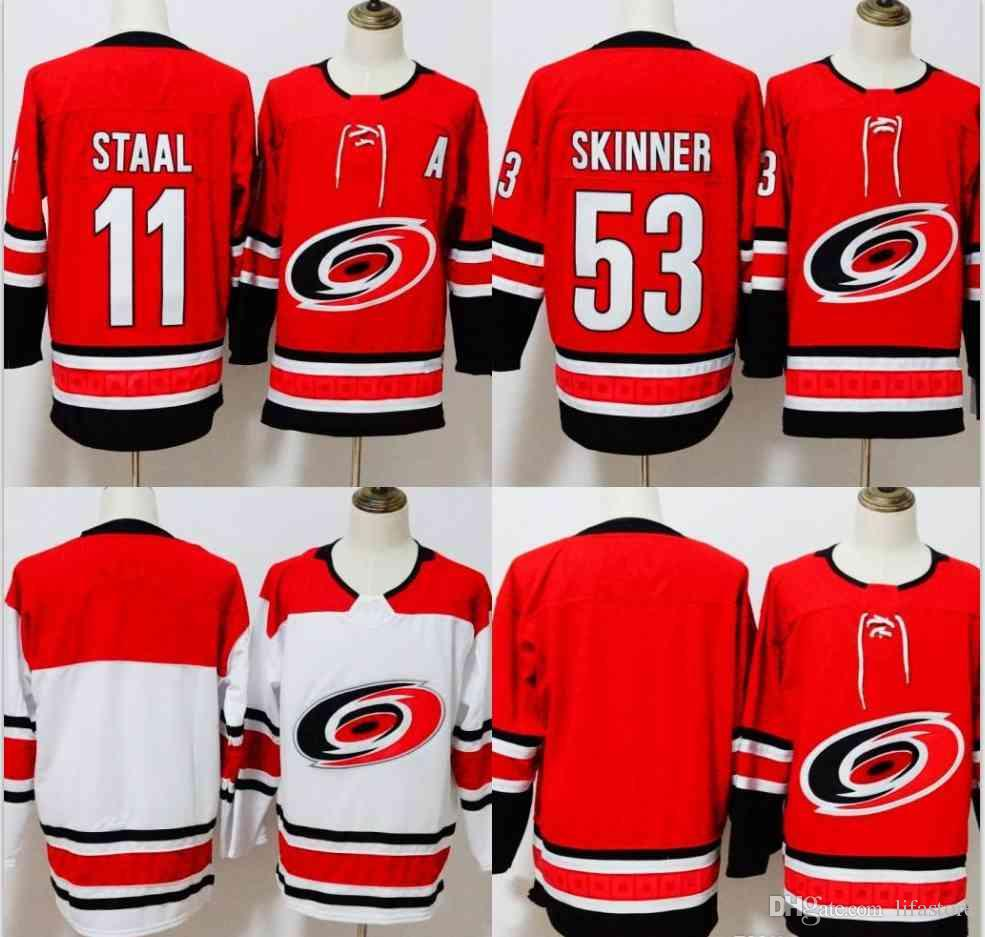 70d5c76cee5 ... youth  online cheap 2018 new carolina hurricanes hockey jerseys home  red blank 11 staal carolina 53 jeff