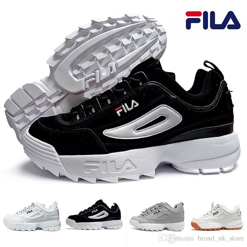 Filas Todo Zapatos Fila Blanco Correr Para Nuevos Negro 2019 Compre AqawxvYA 281bd695953