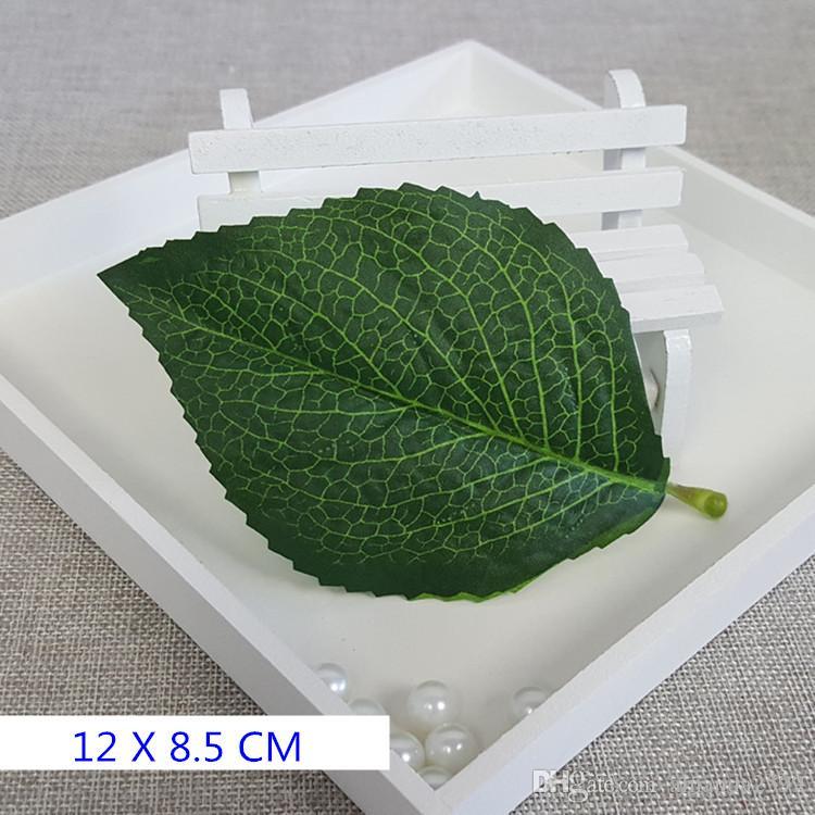 200 stks Grote Bladeren Kunstmatige Nep Rose Flower Vine Leaf DIY Flower Bouquet Materiaaldecoratie