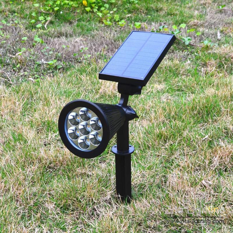2 Pçs / lote Zita Iluminação Holofotes Painel Solar Mudança de Cor À Prova D 'Água Ao Ar Livre Luzes de Segurança Solar Noite Paisagem Cerca Jardim Quintal