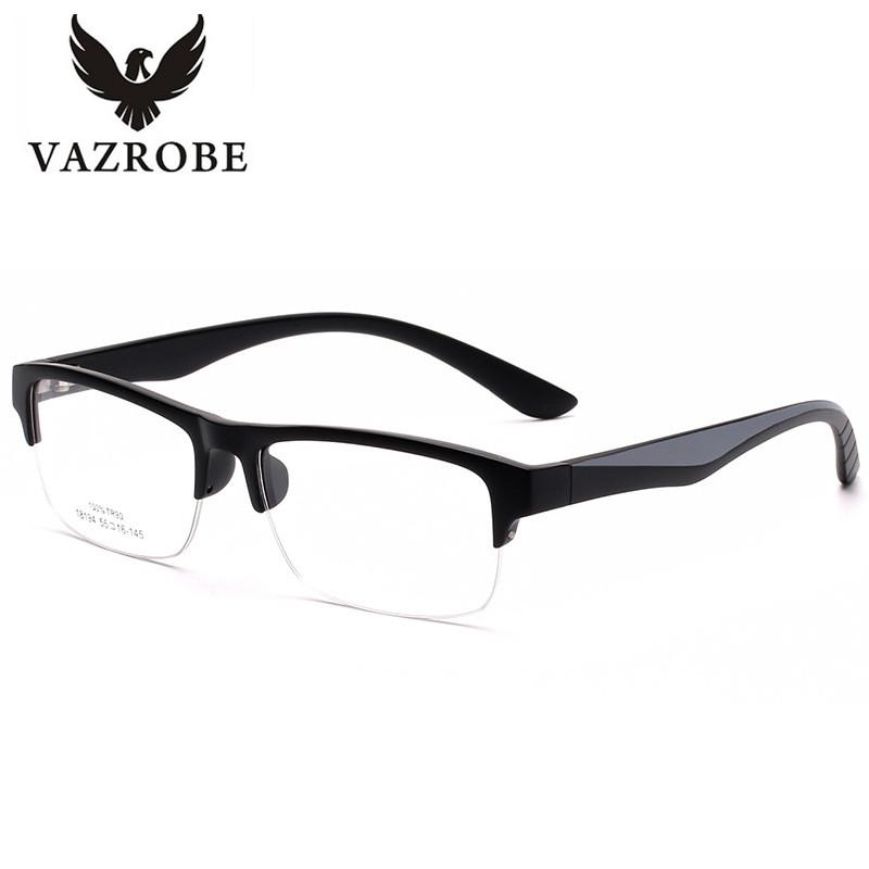 9d705ce667 2019 Vazrobe Brand Style TR90 Eyeglasses Frame Men Half Rim Customized Eye  Glasses Frames For Male Prescription Spectacles For Myopia From Value111