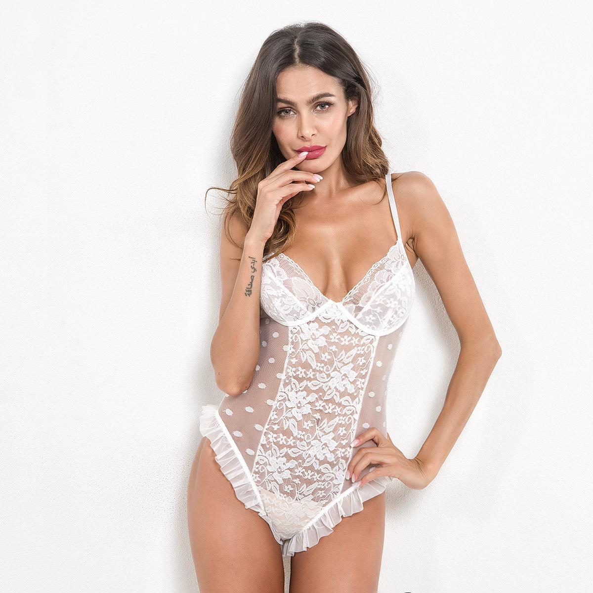 Pijama De Flanela Erotic Lingerie Mulheres Sexy Lace Bodysuit Perspectiva  Playsuit Macacão Sexy Teddy Lingerie Tentação Sexy Underwear Alta Qualidade  ... ad8aff1b79e
