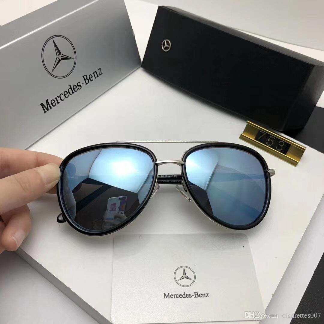 Compre Designer De Óculos De Sol Para Homens Mulheres Com Armações De Metal  Retro Luxo 753 Óculos De Sol Óculos De Marca De Alta Qualidade Óculos De Sol  De ... cfae96d95d