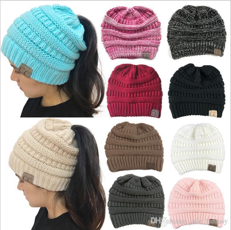 Großhandel Frauen Cc Pferdeschwanz Hüte 10 Farben Erwachsene Mädchen