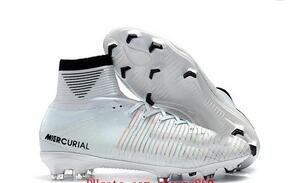 Barato Nuevos zapatos de fútbol mercurial superfly CR7 Quinto Triunfo FG zapatos de fútbol para hombre para hombre 2019 botas de fútbol niños neymar ronaldo