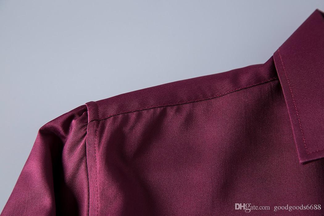 HOT marchio di affari americano sottile Stampa piccola ape, Camicie a maniche lunghe da uomo, uomini il tempo libero su tenterhooks, camicie da uomo Medusa in bianco e nero