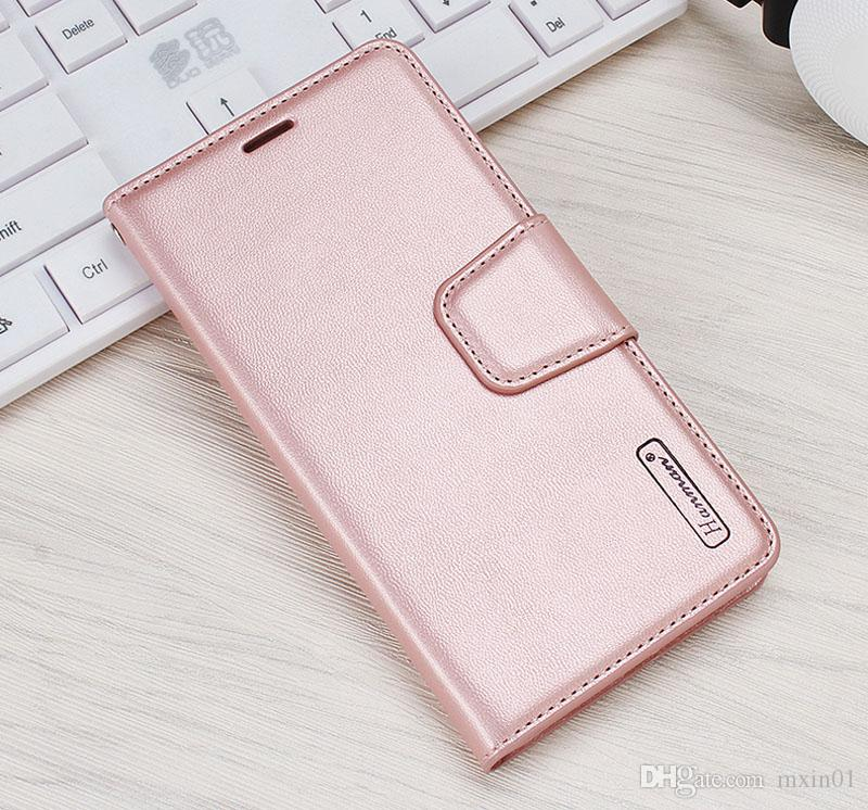 Hanman Wallet PU Flip Leather Stand Case TPU Cover For iPhone X 8 7 6 6S 5 Samsung S7 Edge S8 S9 Plus Note J2 J5 J7 Prime + Retail Package