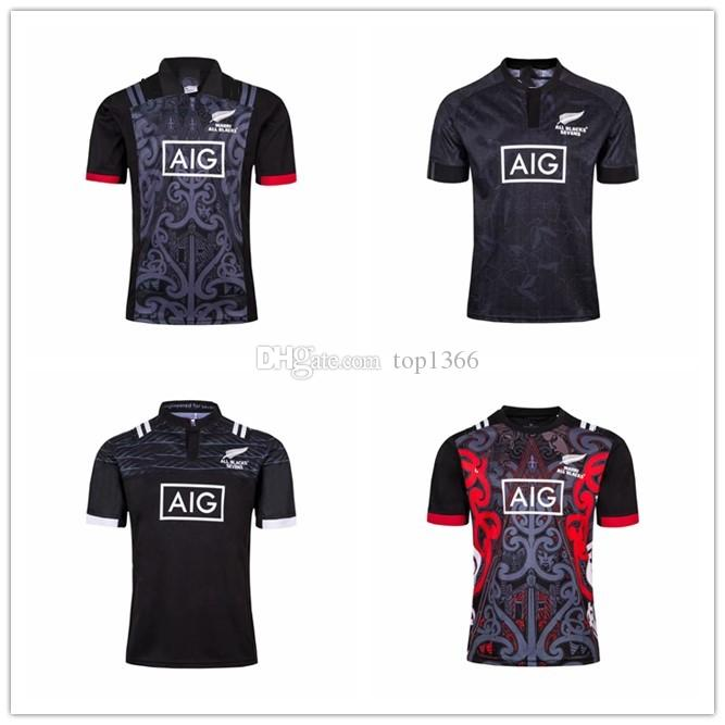 bba70755549 2019 2018 2019 New Maori All Blacks Jersey 18 19 New Zealand Maori All  Blacks HOME Shirt Super Rugby League Shirts Training Suit S 3xl From  Top1366, ...