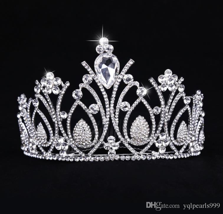 Silber überzogene Legierung Diamant Zubehör, Braut Krone, Mode Braut Kopfbedeckung, Damen Accessoires