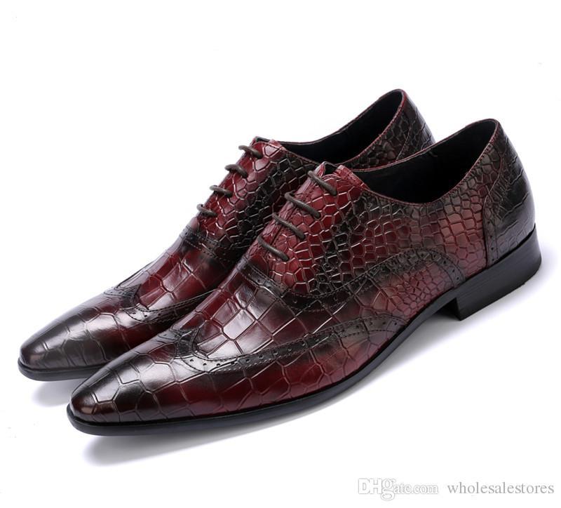 best sneakers 61f85 95073 Serpentine schwarz / braun Bräune spitz Oxford Schuhe Schuhe Herren  Business Schuhe aus echtem Leder Kleid Schuhe