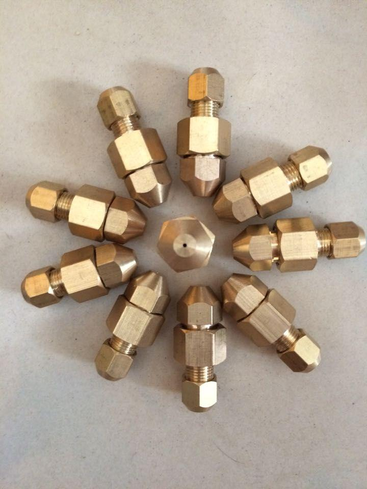 LPG/LNG gas injector, copper nozzle fitting for burner and heater, gas  orifice fitting,gas jet