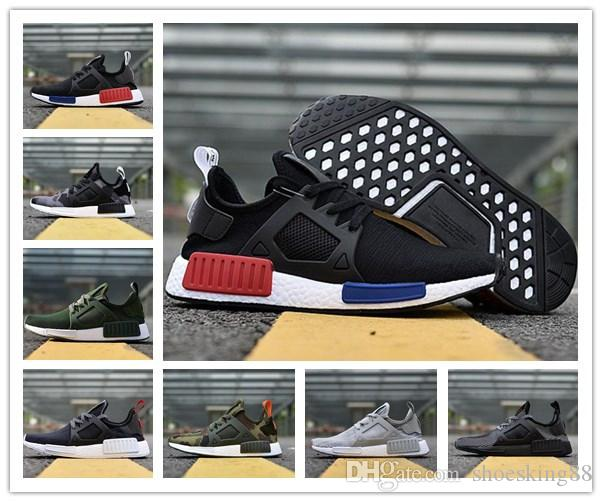 huge selection of b886e 0e6e2 Acquista 2018 Original NMD XR1 PK Scarpe Da Corsa Economici Sneaker NMD XR1  Primeknit OG PK Zebra Bred Blue Shadow Noise Duck Camo Core Black Fall  Olive A ...