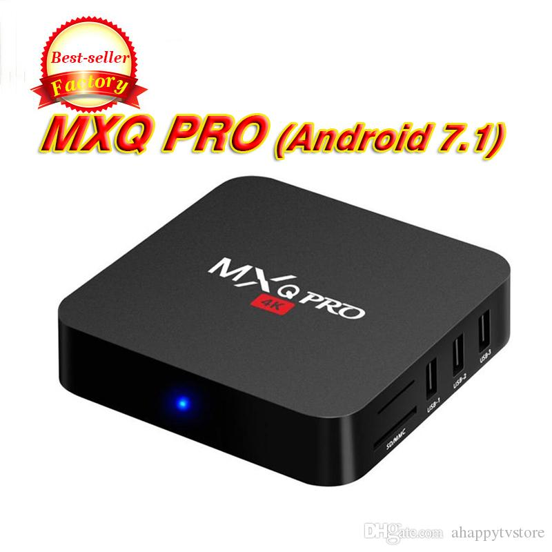 TV Box Android 7.1 MXQ pro MXQ-4K Quad Core 1GB / 8GB Amlogic S905W Rockchip RK3229 Smart TV Box suport WIFI 3D 4K IPTV