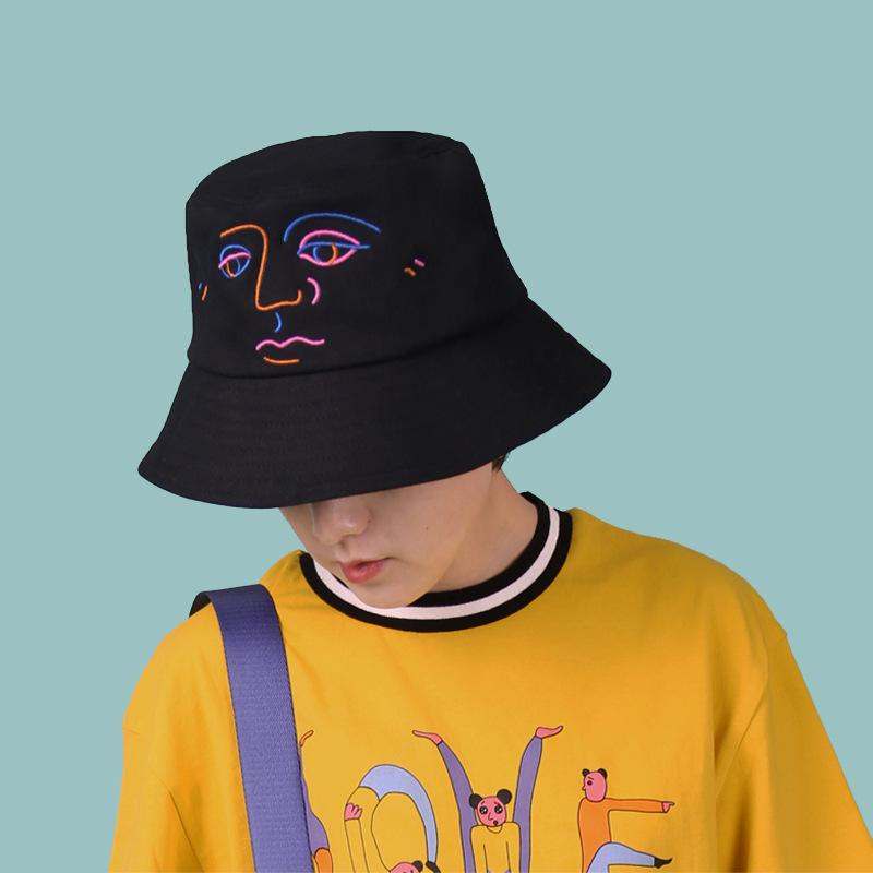 New Arrival Fashion Original Design Bucket Hats For Women Men Black Pink  Flat Hat Bush Cap Outdoor Sunhat Headwear Felt Hat From Playnice c1ad110b5c6