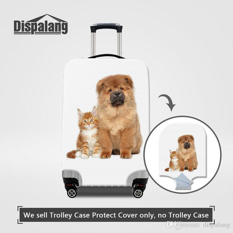 Cat Dog Printing Luggage Protector Cover For 18-30 Inch Travel On Road Case For Suitcase Animal Children Outdoor Waterproof Rain Dust Covers