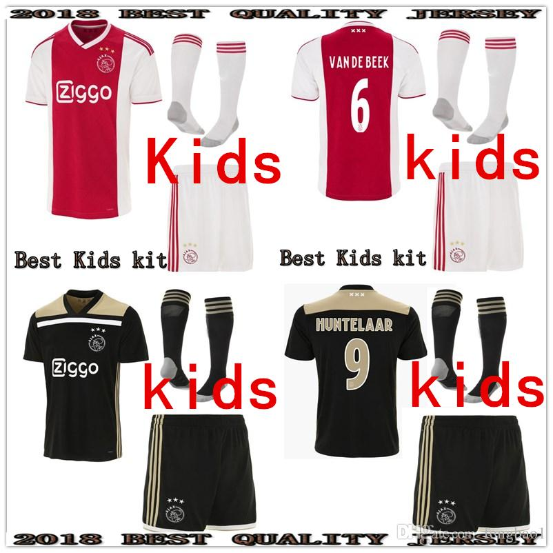 9fd9518d6 2019 2018 2019 Best Ajax Kids Soccer Jersey 18 19 Ajax Home Away Children  Soccer Shirt 2019 Customized  10 KLAASSEN  34 NOURI Football Shirt From  Fengbao1