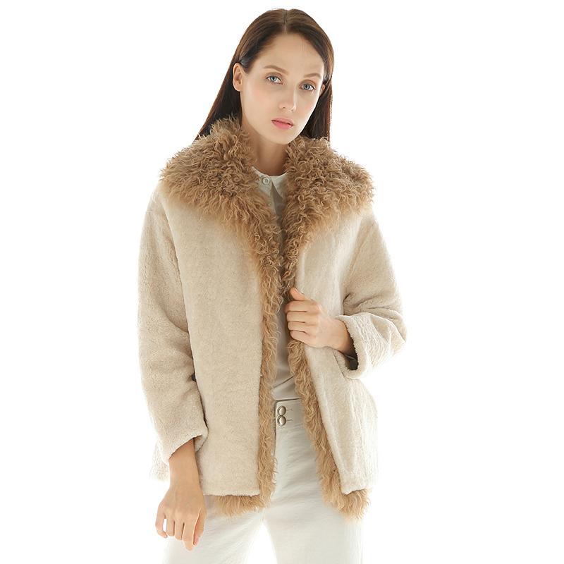 En Agneaux Cuir Vestes Femmes D'hiver Manteau 2018 Acheter Véritable xqvBff