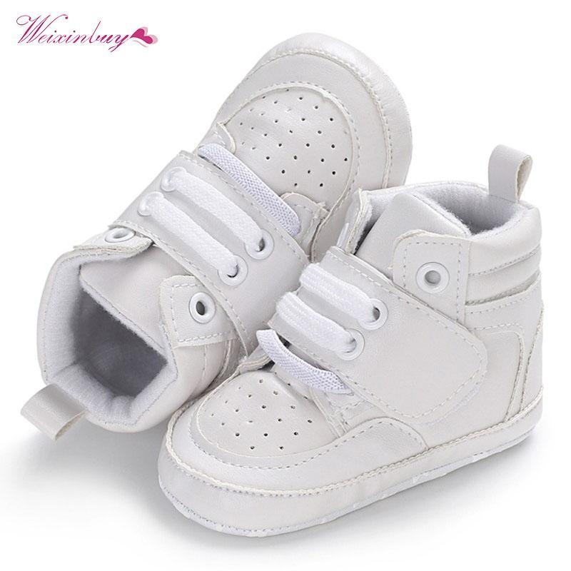 51c1ffd0bf0 Compre Zapatos Para Bebés Zapatos Para Niños Recién Nacidos Zapatillas  Altas Suela Blanda Sólida Zapatillas Para Cuna Prewalker Para Bebés  Pequeños Niño ...