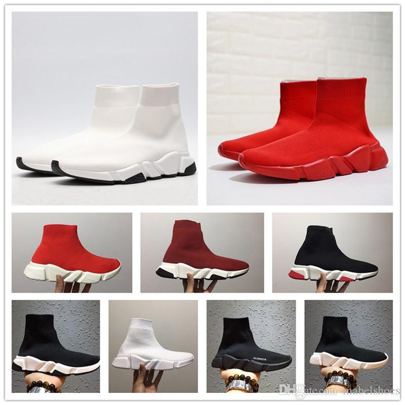 brand new 7d4e9 b7d1c Acheter Mode Paris Speed Runner Tricot Chaussette Chaussure Original De  Luxe Trainer Runner Sneakers Course Hommes Femmes Chaussures De Sport Sans  Boîte ...