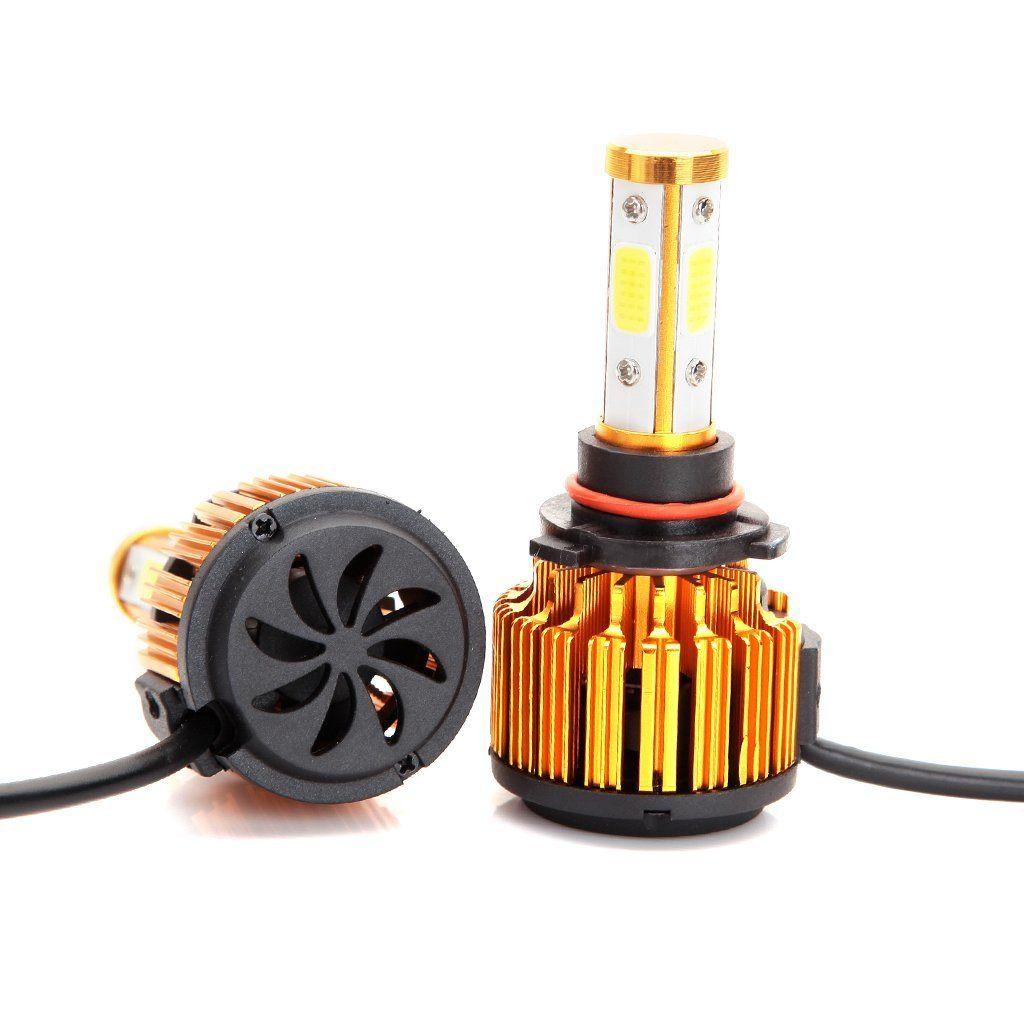 9006 HB4 H4 H7 LED Headlight Bulbs 8000LM 60W Cool White 6000K Replace Low Beam/High Beam/Fog Light 360° 4 Side COB Chips Super Bright Lamp