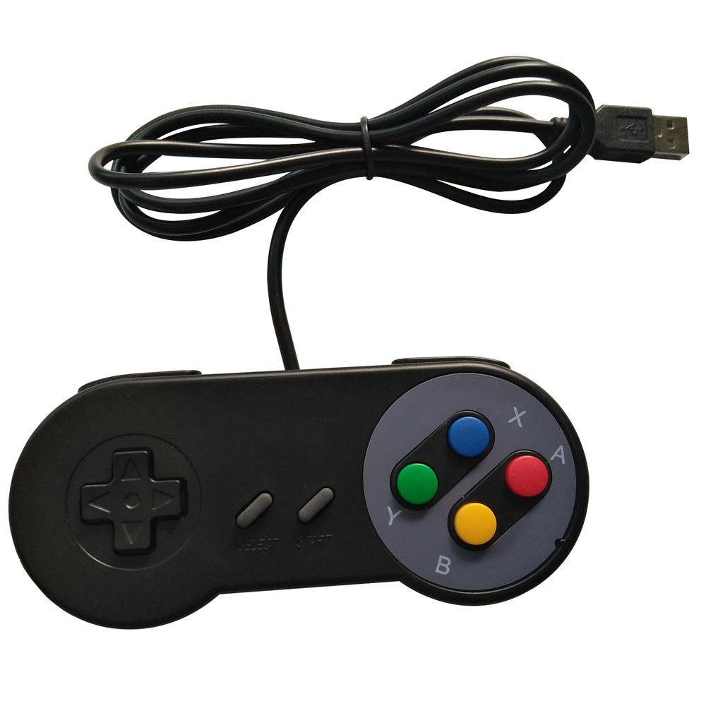 xunbeifang 2pcs mucho Black USB Game Controller para PC no para SNES Classic Gamepad PC Games la mayoría de los sistemas
