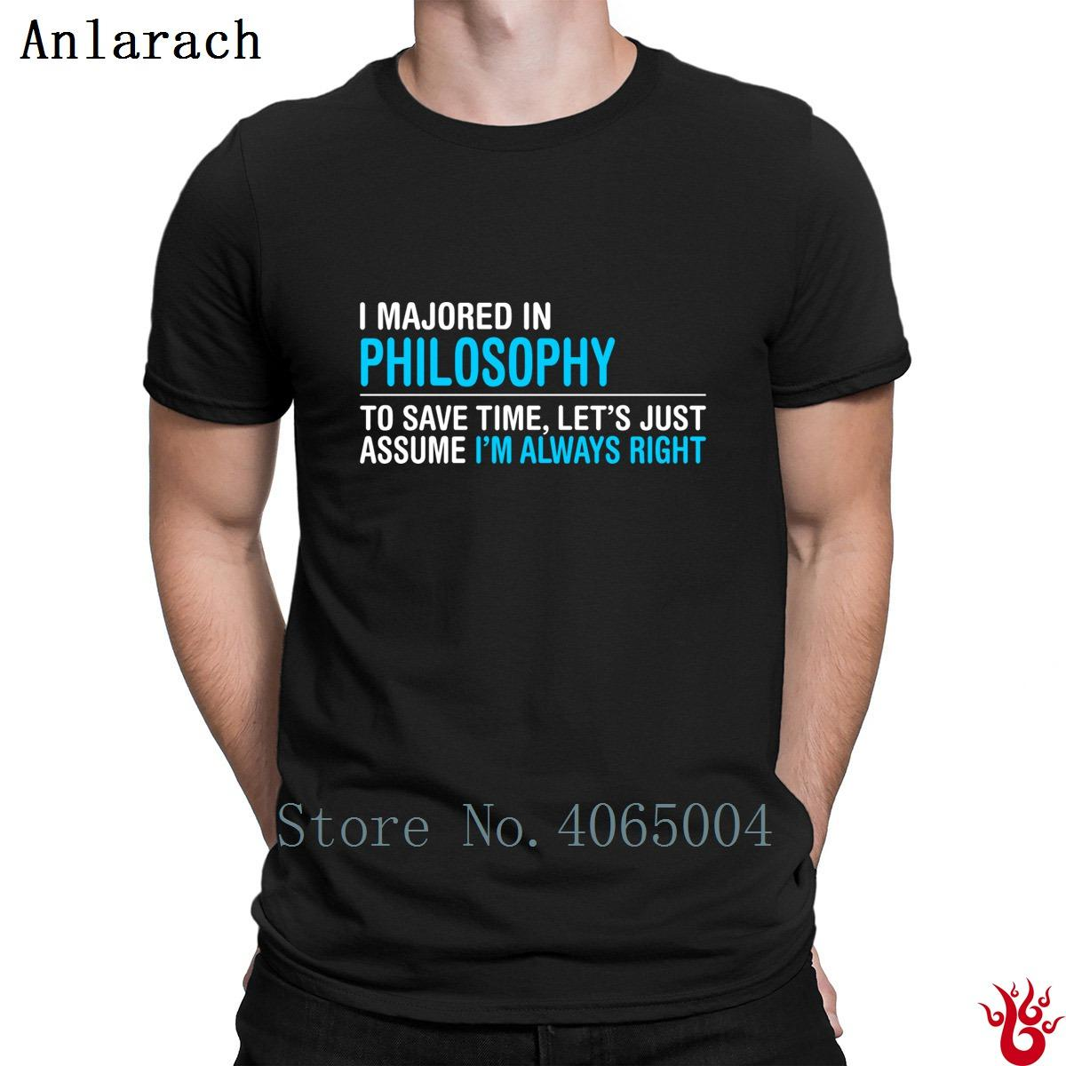 a5e8c37e I Majored In Philosophy Tshirts Trend Round Collar Hiphop Men's T Shirt  2018 Short Sleeve Outfit Anti-Wrinkle Comfortable