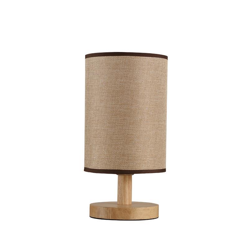 Modern Wood Wooden Table Lamp AC 90-260V Bedside Bedroom Table Light Creative Desk Lamp With Bulb For Living Room Study Room